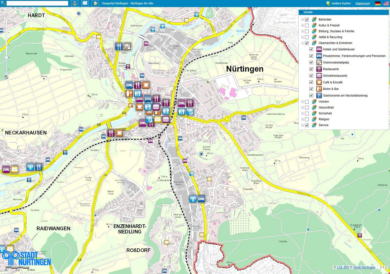 Geoprtal Nürtingen - Nürtingen für Alle (Online-Stadtplan)